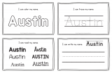 Austin – Name Printables for Handwriting Practice