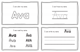 Ava – Name Printables for Handwriting Practice
