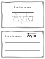 Ayla – Name Printables for Handwriting Practice