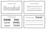 Daniel – Name Printables for Handwriting Practice