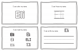 Eli – Name Printables for Handwriting Practice