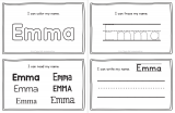 Emma – Name Printables for Handwriting Practice and Name Tracing