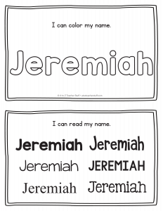 Jeremiah Name Printables For Handwriting Practice A To Z Teacher Stuff Printable Pages And Worksheets