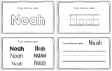 Noah – Name Printables for Handwriting Practice